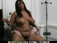 Huge titted black fatty r...