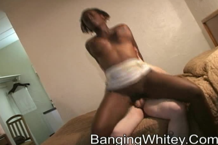 WTF Cumshot from hell on this black whore