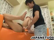 Horny Japanese studs playing their ass with toys