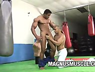 Muscle Dudes In WorkOut Gay Sex