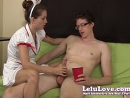 Lelu LoveSperm Bank Nurse Handjob