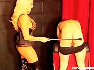 Blonde goddess punishes pathet