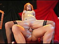 Busty redheaded slut anal...