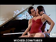 Bigtit  ass brunette GF Gracie Glam is fucked on top of a piano