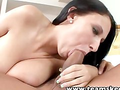 TeamSkeet Busty brunette babe Bella Blaze tit fucks Asian guy