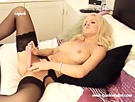 Blonde lesbian with big t...