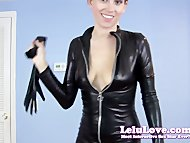 Lelu LoveCatsuit Striptease Blowjob Cumshot
