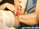 Extreme amateur double fist fucked in her loose vagina