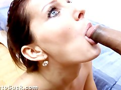 Girl next door sucking dick and drinking pee