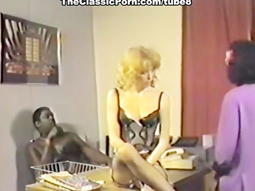 Interracial threesome in retro movie