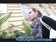 PublicAgent Hot brunette gets fucked in my car