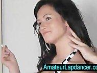 Sexy czech brunette lapdances for horny guy