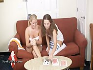 Ashley and Amber Play Strip HiLo