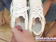 Lelu LovePOV Footjob Cum ...