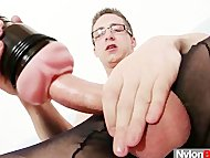 Solo gay Rick cums on his...
