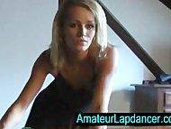 Gorgeous tanned blonde lapdance