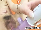 Sweet Japanese teen Nana Ogami stripping down her clothes