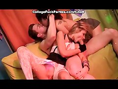 Amazing threesomes with hot students