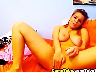 Busty Hot Cam Babe Dildo Fucki