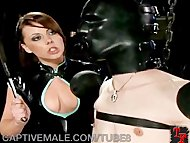 Man Slave Gets Pegged and Humi