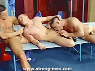 Three Muscle Guys Fucking