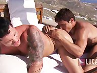 Muscle Jocks Fuck in a Pool