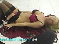 Wild strip and lapdance by czech amateur