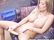 Busty Tera with a huge dildo