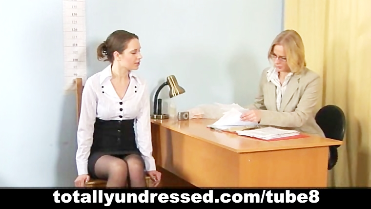 Humiliating nude job interview for pretty young lady