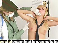 Shocking army gyno exam for bl