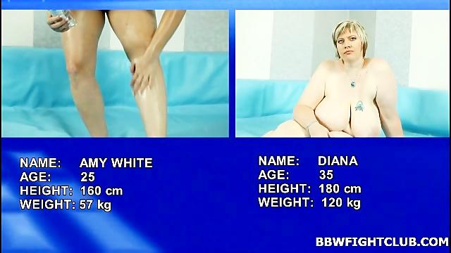 Naked BBW wrestling video