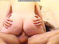 Chubby girl takes a hard cock and rides