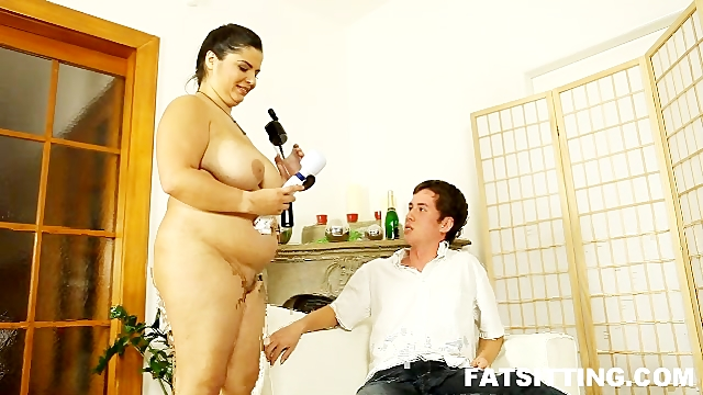 Sexy BBW Leny tortures guys cock and sits on his head