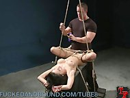 Tied Up Tramp Gets Fucked and Punished