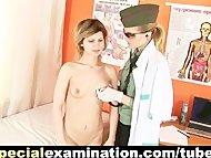 Gynecologist examines sweet young girl