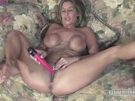 Petite wife Leeanna fucking her toy
