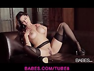 Beautiful Latina brunette Sunny Leone loves fingering herself
