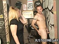 Hot dude Billy Dewitt tries the glory hole