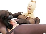 Slutty blonde distorted nylon