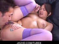 Asian babe Mai Kaoru wet pussy