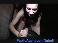 PublicAgent Sara masturbates a