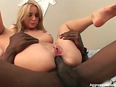 Black cock ho double fucked