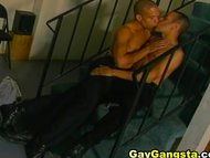 Stair Fucking Black Gay Into Cum