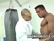 BodyBuilder Douglas Masters Gets A Pounding On His Gym Buddy
