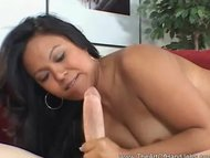 Asian Hottie Handjob Big Stiff