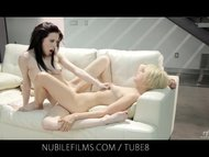 Nubile Films  Lesbian Lovers share sweet pussy juices