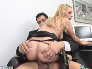 Kinky secretary satisfies her boss in office