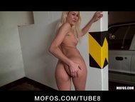 Playful blonde amateur is pick