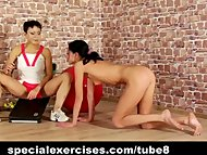Nuda BDSM training for sweet teen girl