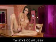Malena Morgan toys her sq...